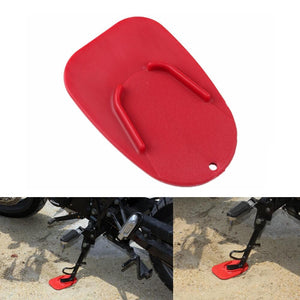 Motorcycle Kickstand Pad Kick Stand Coaster Support Plate Side Stand Plate Helps Park Your Bike on Hot Pavement Grass Soft Ground - pazoma