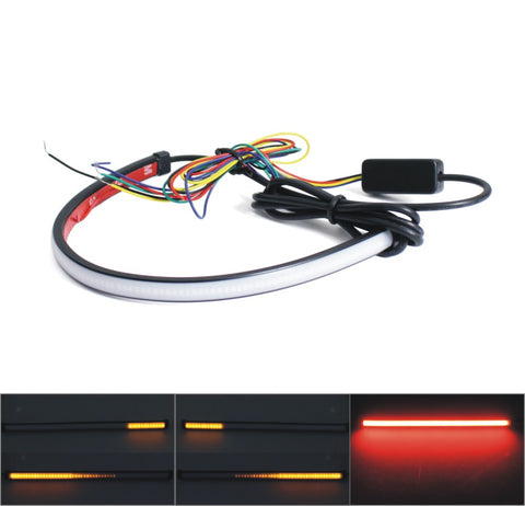 Motorcycle Sequential Switchback Flowing LED Tail Brake Turn Signal Strip lights - pazoma