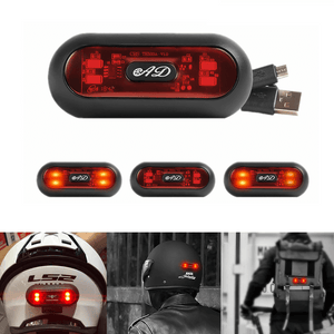 Motorcycle Universal Helmet Night light Safety Warning Light Locomotive refitting emitting helmet warning lamp taillights Safety LED Lamp Taillight - pazoma