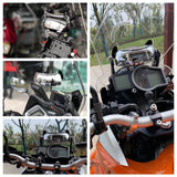 Motorcycle Blind Spot Mirror 180 Degree Safety Mirror Holographic Wide-angle Rear View Racing Convex Center Mirror For Scooter UTV Windshield Screens - pazoma