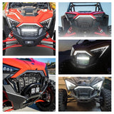 New Polaris RZR PRO XP 4 LED Front Bumper Accent Light Center Grill Lights Daytime Running Light DRL 2020-2021 2884346 - pazoma