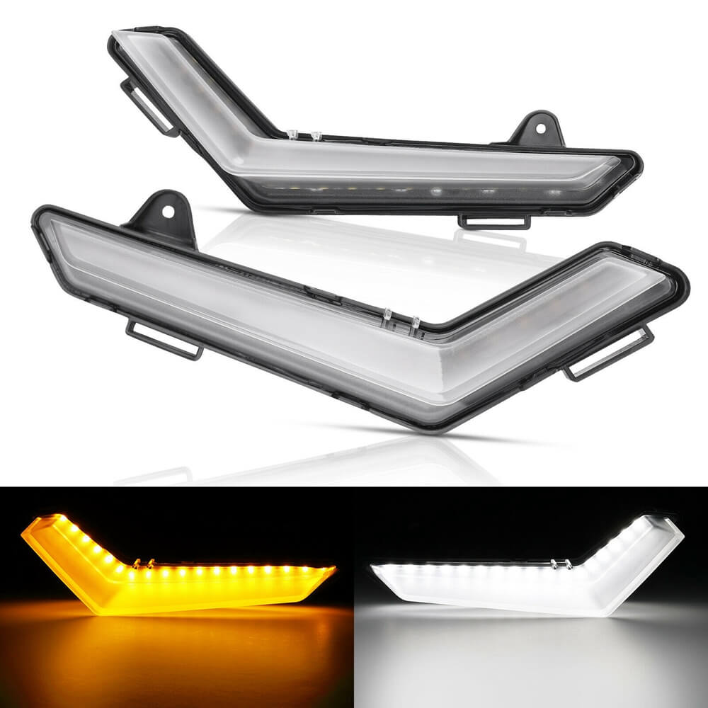 UTV Front LED Signature Light White/Yellow Turn Signal for Can-Am Defender & Defender Max 2020+ Auxillary Light Kit 715006896 - pazoma