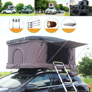 Rooftop Tent Hardshell Auto Top Tent Pop Up Tent Foldable Room Overlander For Cars Trucks SUVs Camping Outdoors Sleeps 2/3 Persons - pazoma
