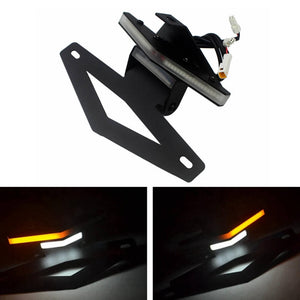 Aprilia RSV4 RR RF 09-2019 Tuono V4 1100 2015-2019 LED Tail Tidy Stealth Fender Eliminator Kit Integrated Turn Signals License Plate Light Bracket - pazoma