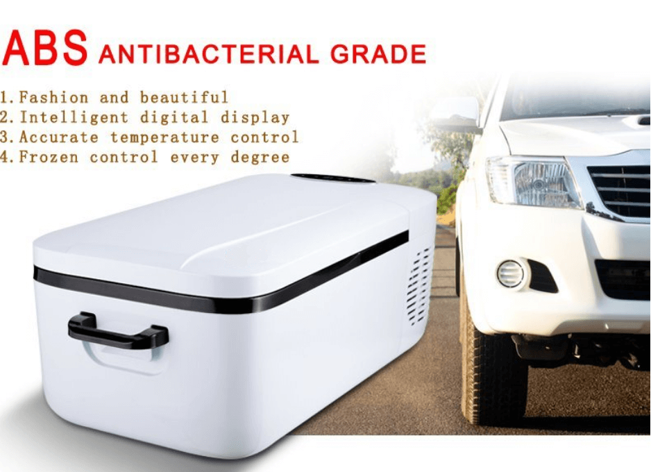 Aizome 12L Car Refrigerator Compressor Fridge Universal DC 12V&24V Portable Mini Fidge Cooler Frezzer Box - pazoma