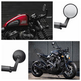 Aluminum Universal Motorcycle Handle Bar End Mirrors Custom Bobber Cafe Racer Buell Clubman For Honda Suzuki Ducati BMW Kawasaki - pazoma