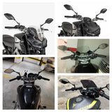 Yamaha MT09 MT07 MT03 MT25 FZ07 FZ09 FJ09 MT10 XJR1300 XJR1200 XJ6 FZ6 FZ1 FZ8 Tracer 900/GT Tenere 700 Rear View Side Mirrors E24 MARK Certification - pazoma