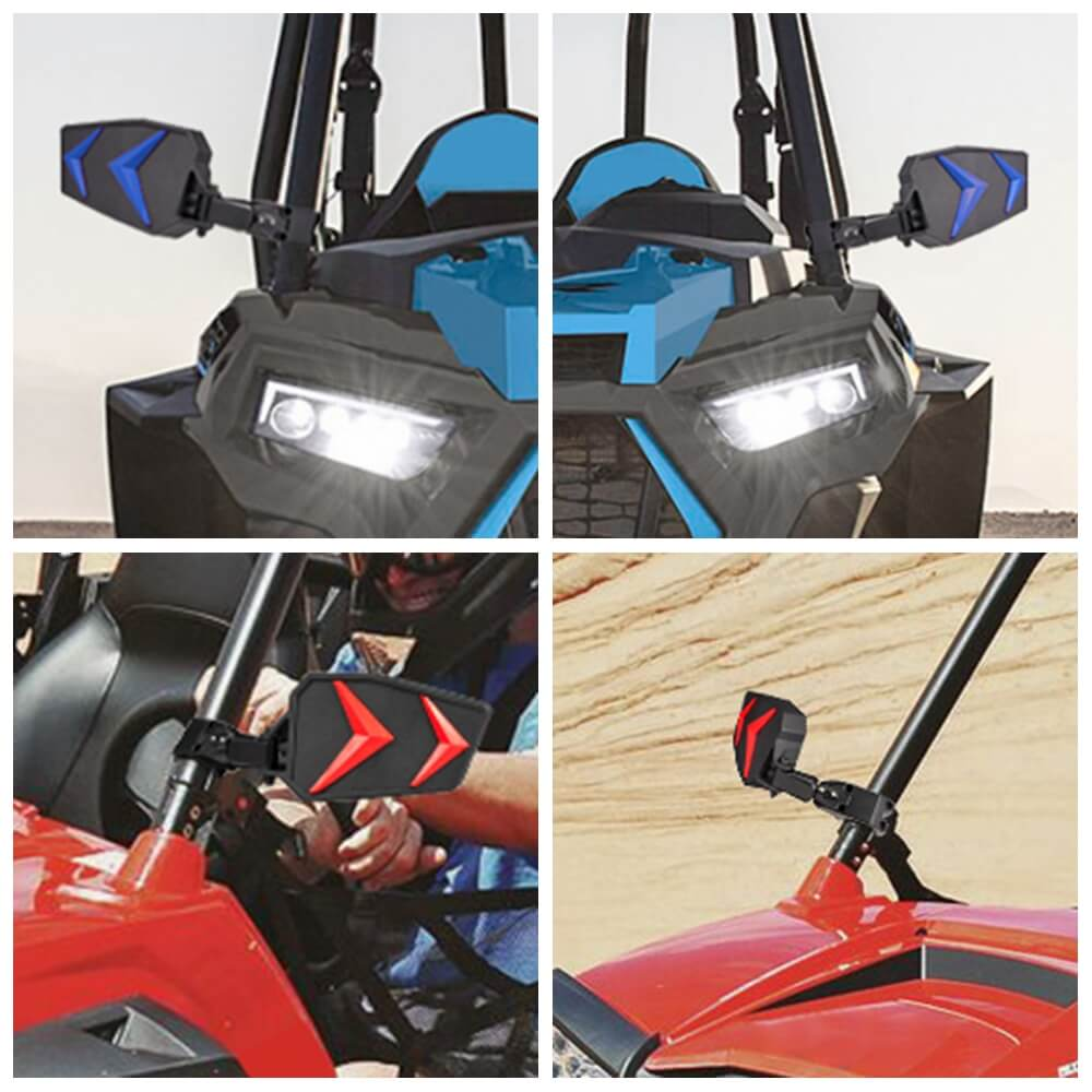 "UTV 1.75 "" Roll Bar Cage Adjustable side mirrors for Polaris Ranger RZR XP 1000 900 800 XP1000 XP900 XP800 rearview mirror - pazoma"