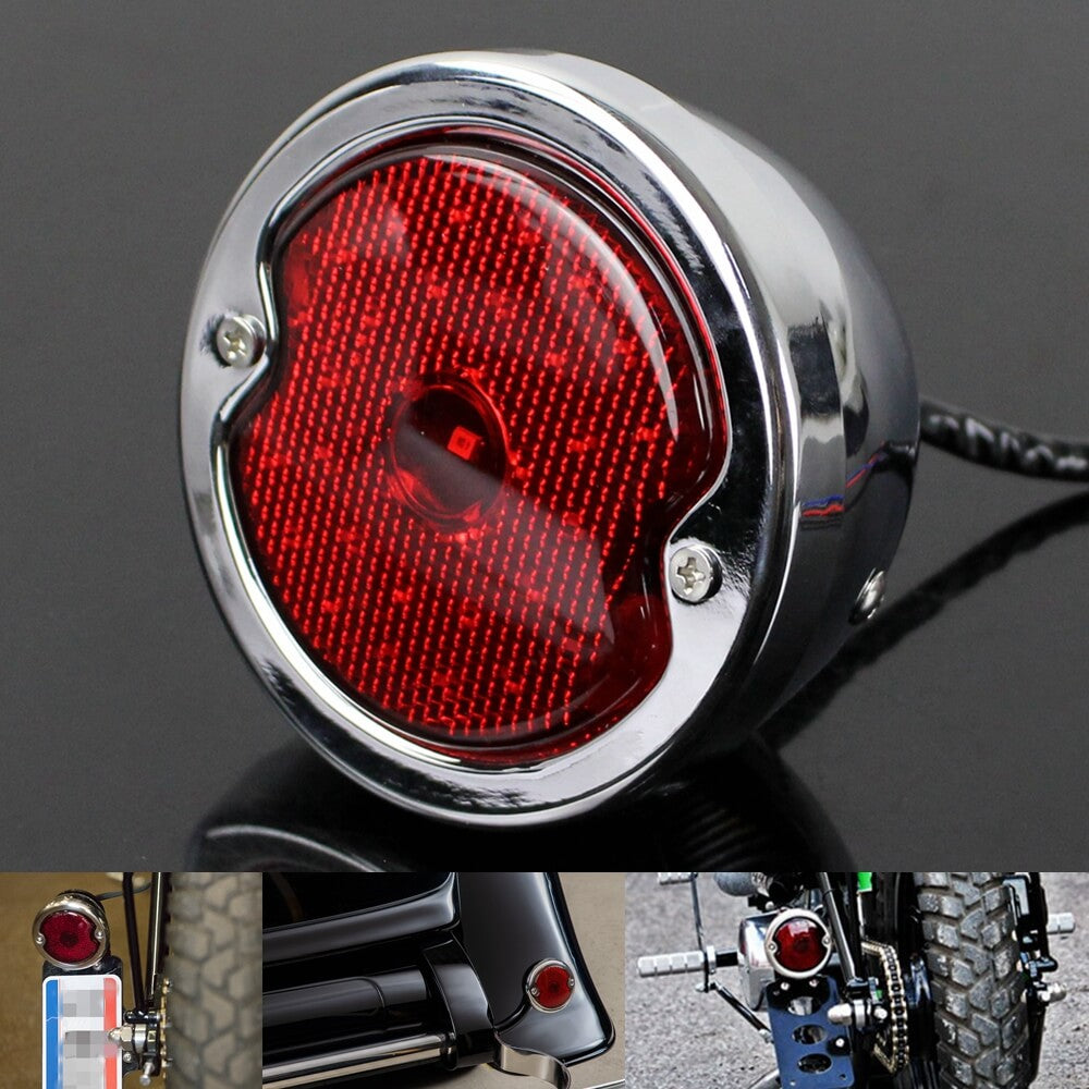 1933-1936 Ford Car LED Taillight Assembly Vintage Style Tail Lamp Red Lens For Harley Chopper Cafe Racer Triumph Scrambler Custom - pazoma