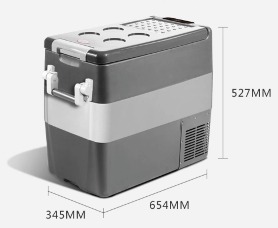 53 Quart 50L AC/DC 60W Portable Refrigerator Compressor Electric Powered Portable Cooler Fridge Freezer for Car Home Picnic Camping Party - pazoma