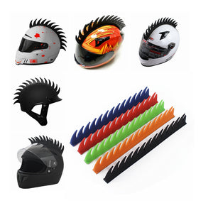 Dirt bike Scooter Motorcross Skate Boarding Snowmobile ATV UTV Motorbike Rubber Helmet Mohawks spikes Sawblade - pazoma