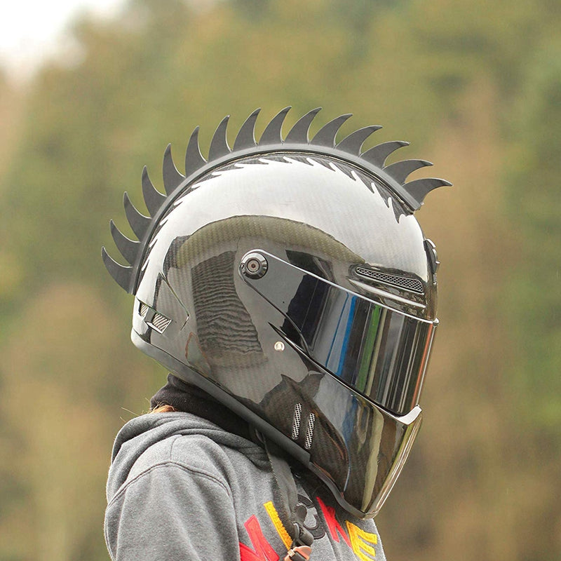 Motorcycle helmet mohawks / spikes / Sawblade Rubber Dirt bike Scooter Motorcross Skate Boarding Snowmobile ATV UTV - pazoma