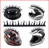 Pazoma Dirt Biker Helmets Mohawks Sticker Spikes Motorbike Rubber Stick Capacete Decoration Fire style - pazoma