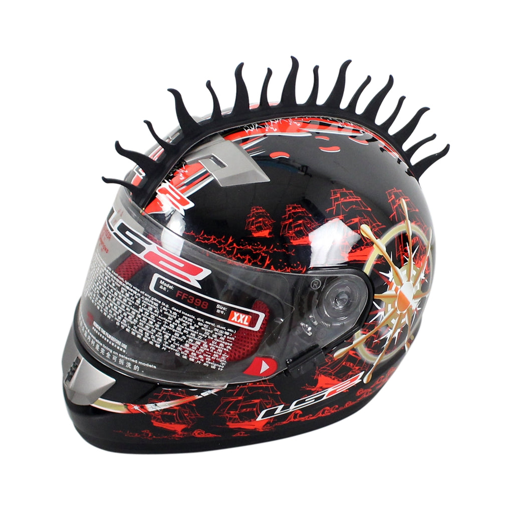 Fire Rubber Motorcycle helmet mohawks spikes Dirt bike Scooter Motorcross Skate Boarding Snowmobile ATV UTV Biker Helmet Warhawk - pazoma