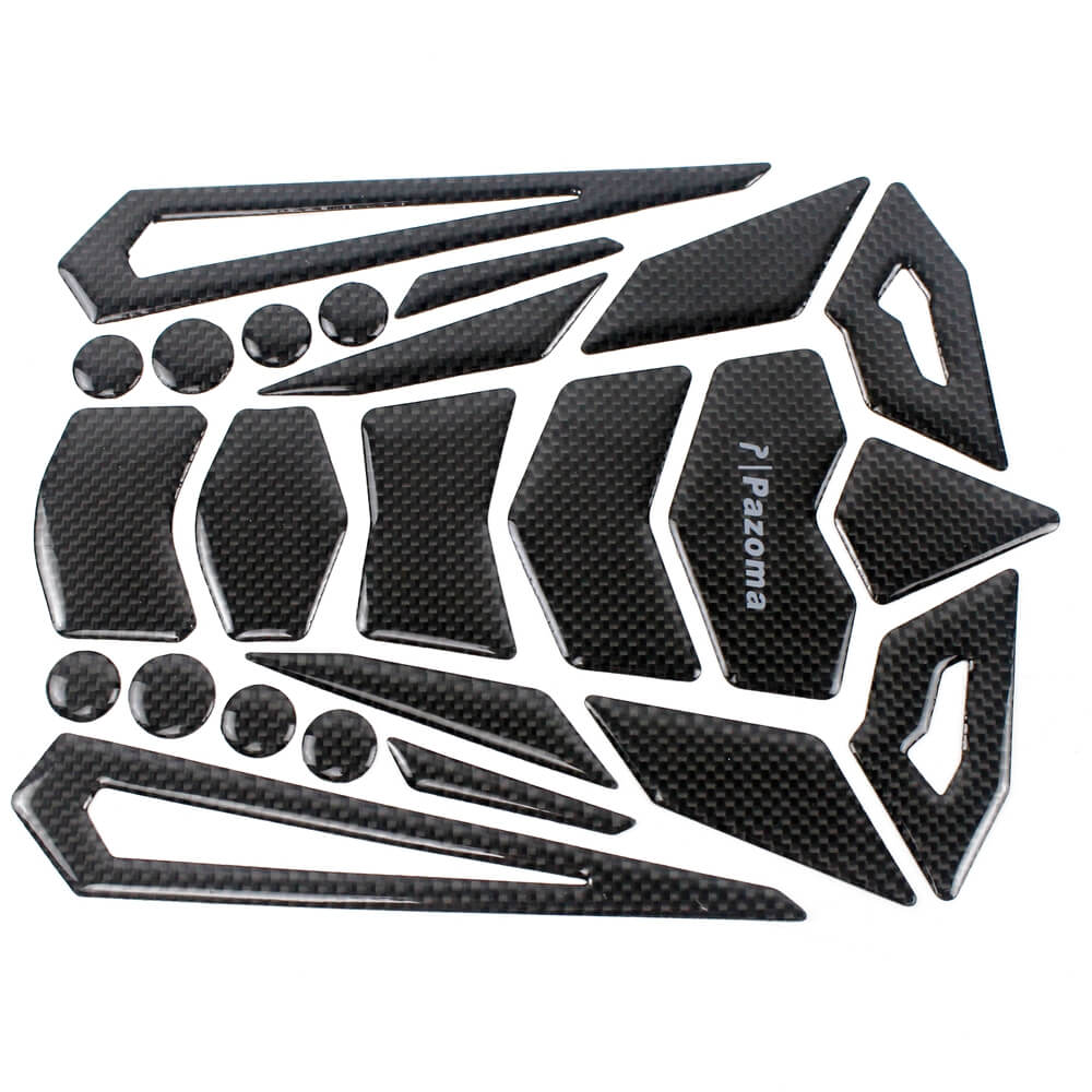 Real Ultra shiny Carbon Fiber  Fuel Tank Decal Pad Sticker Protector For Honda CBR 600RR 1000RR 1100XX - pazoma