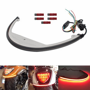 Pazoma Suzuki Boulevard M109R LED Fender Light / Sequential Switchback Flowing LED Tail Brake Turn Signal Light / Bar Fender Eliminator Kit '06-Up - pazoma