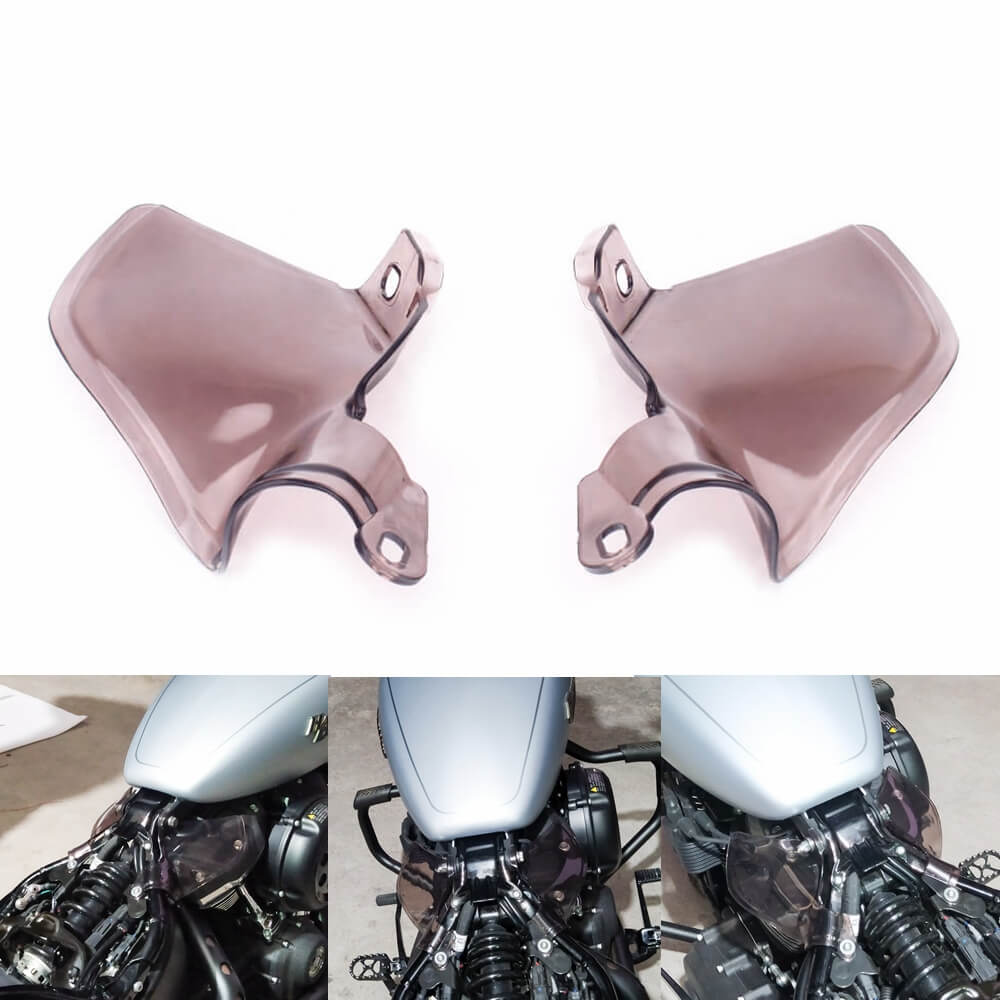 Mid-Frame Air Deflector Saddle Shields Heat Deflectors Engine Heat Insulation Plate for '18-Up Harley Davidson Softail Models - pazoma