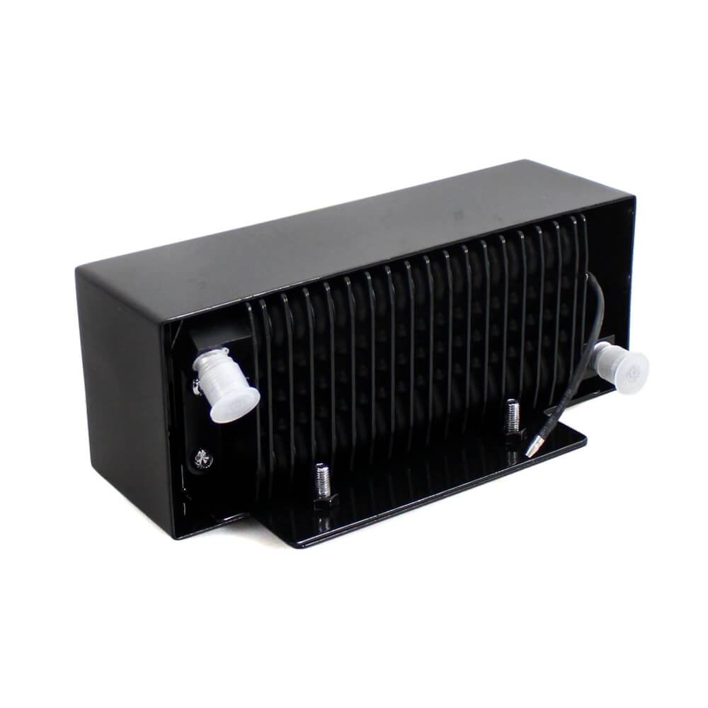 New 2.0 Black Chrome The Reefer Oil Cooler Fan Cooling System Harley Touring FLH 2009-2016 Dual Fan Assisted Below Regulator Mount - pazoma