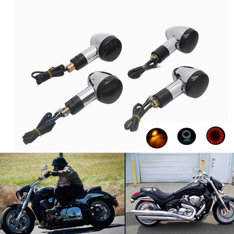 Suzuki Boulevard M109R M109RB M109RZ Boss Limited VZR1800 Intruder M90 VZ1500 C90 Front Rear Amber Turn Signal Light Indicator - pazoma