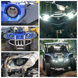 YAMAHA YXZ1000R YXZ1000 Grizzly Wolverine 2016-2020 LED Headlight Headlamp Fassy Replace OEM 2UD-84300-00-00 - pazoma