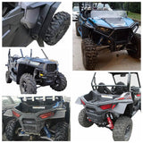 Polaris RZR S 900 RZR S 1000 2015-2020 RZR S 4 900 2015-2016 UTV Front & Rear Mud Guards Extended Fender Flares Mud Flaps - pazoma