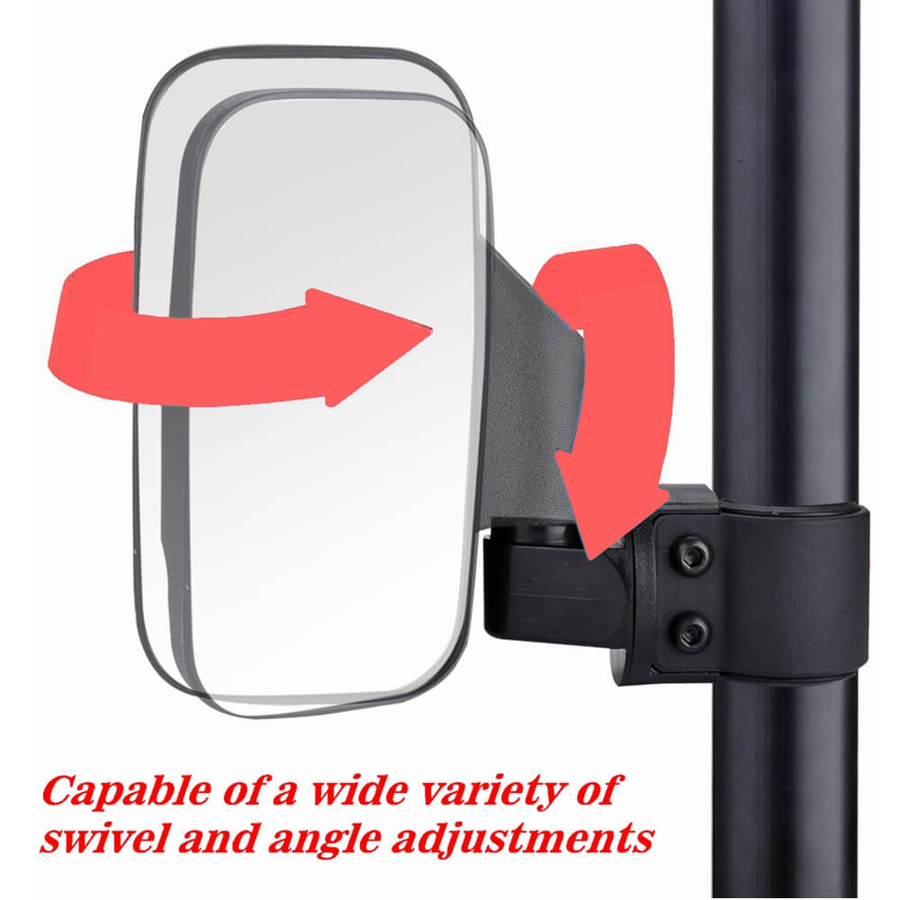 UTV Off Road Side View Mirror Adjustable Wide Rear Clear View with Shatter-Proof Tempered Glass for Polaris RZR Can-Am Kawasaki kubota Yamaha Maverick - pazoma