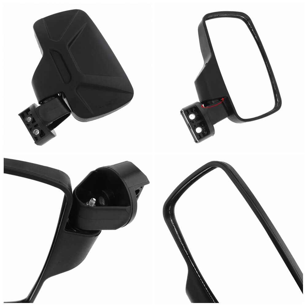 "UTV Rear View Side Mirrors Universal Fit Best for 1.75""-2"" Roll Cage Bar Break Away w/Adjustable Arm - High Impact Tempered Glass Mirror - pazoma"