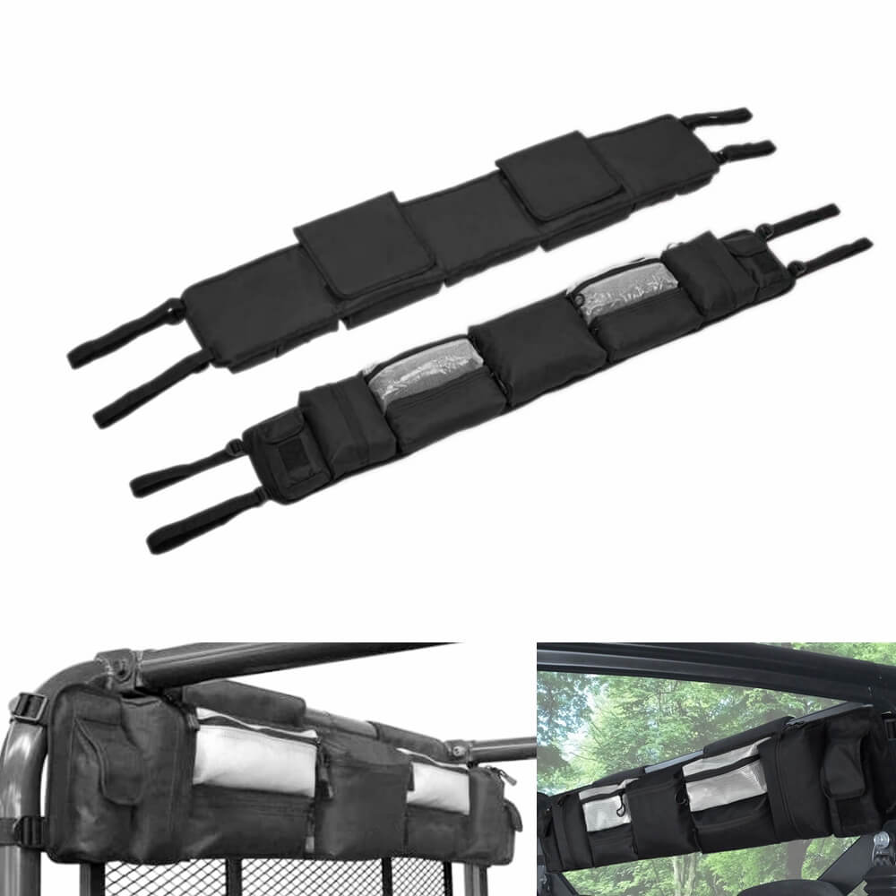 UTV Roll Cage Organizer Roll Cage Cargo Storage Bag Gear bags For Polaris Ranger RZR Honda Pioneer Most Full-Size UTVs - pazoma