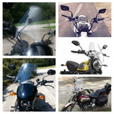 "Universal Motorcycle 15"" Windshield Windscreen Screen with 1in & 7/8in Clamp Tint  for 7/8"" or 1"" Handlebar Bars Mounting Kits Included - pazoma"
