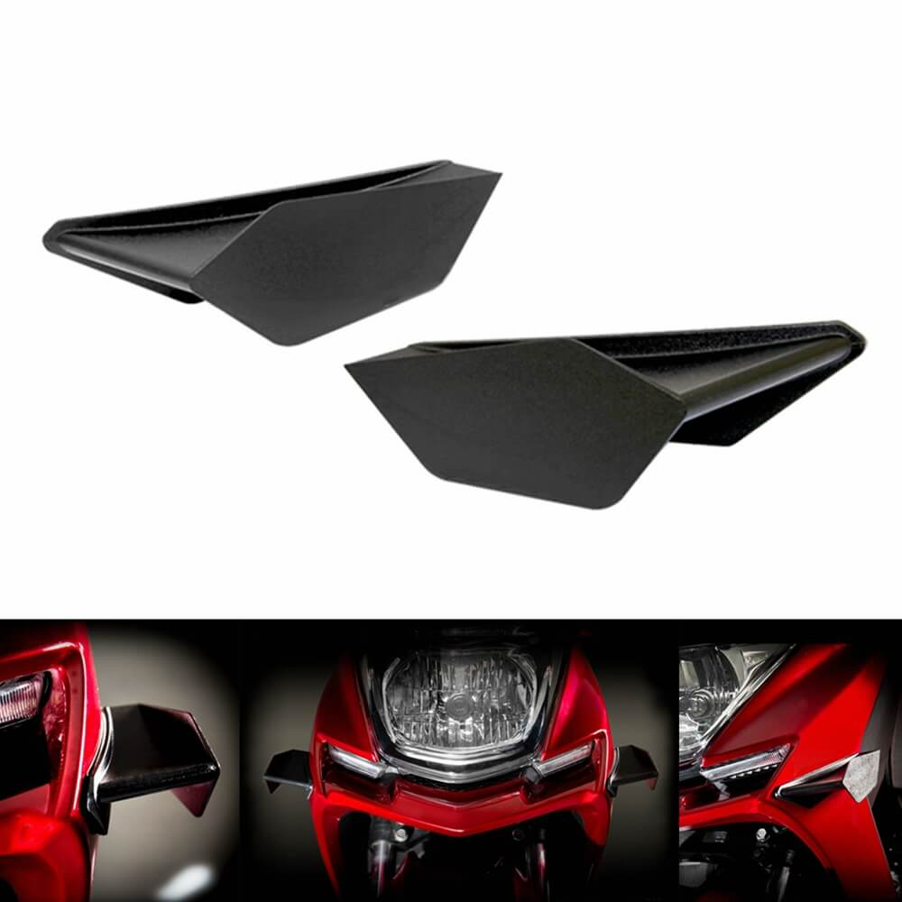 Universal Broken Wind Wing Fairing Cover GP Style Aero Dynamic Wing Kit Fixed Winglet Yamaha YZF R1 R6 R3 R25 BMW S1000RR Superbike Scooter - pazoma