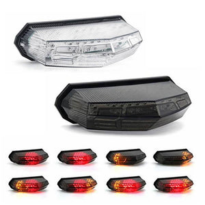 Motorcycle Universal 3 in 1 LED Taillight W/ Turn Signal Brake Light - pazoma