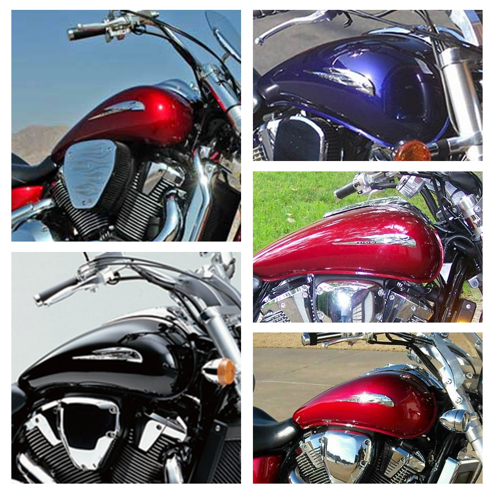 Honda VTX1800 Chrome ABS Gas Tank fairing Sticker 3D Emblem Badge Decal VTX 1800 VTX1800C VTX1800F VTX1800N VTX1800R VTX1800S VTX1800T GL1800 - pazoma