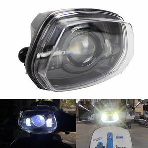 Vespa Sprint 150 GL Super GTR LED Headlight Replacement Front Headlamp with High Low Beam - pazoma