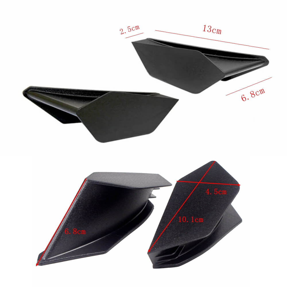 MotoGP Style Universal Aero Dynamic Broken Wind Wing Kit Fixed Winglet Fairing Cover For Ducati SUZUKI GSXR Honda CBR Superbike Scooter Carbon - pazoma