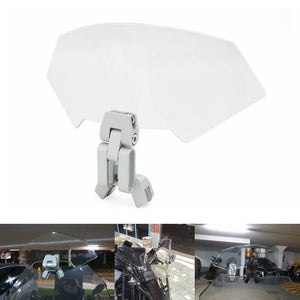 Motorcycle Airflow adjustable windshield air deflector transparent variable vane blade Windscreen R1200GS F800GS Z1000 Z750 MT-09 MT-07 KTM - pazoma