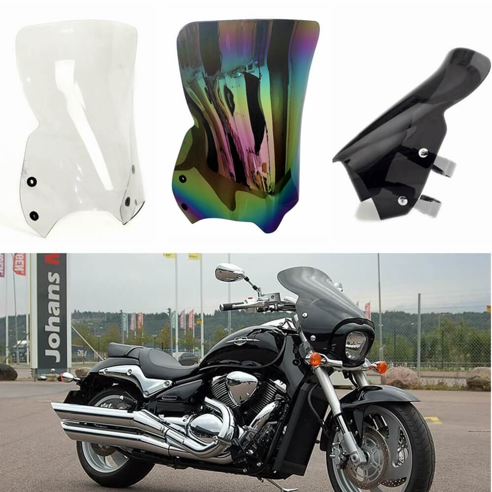 Suzuki Boulevard M109R RB RZ Boss Limited VZR1800 BZ Z M1800R 2006-2020 VStream Sport Tall Touring 10in Windscreen Windshield - pazoma