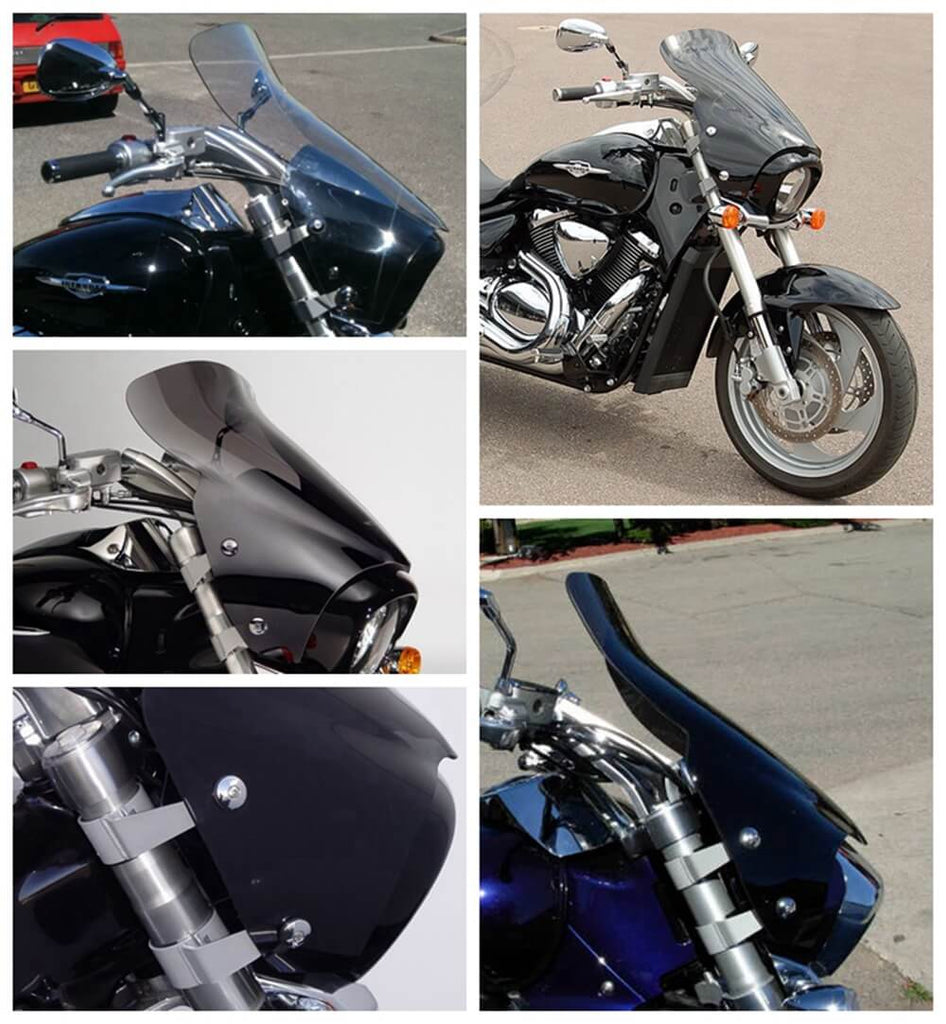 Suzuki 2006-2019 Boulevard M109R M109RB Boss Limited M109RZ VZR1800 VZR1800BZ VZR1800Z M1800R VStream Sport 10in Tall Touring Windscreen Windshield - pazoma