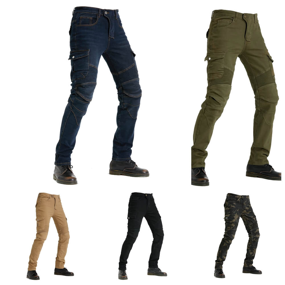 Windproof Motorcycle Racing Jeans Casual Pants Men's Motorbike Motocross Off-Road Knee Protective Moto Jeans Trousers - pazoma