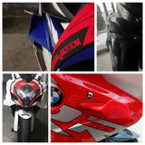 MotoGP Style Universal Aero Dynamic Broken Wind Wing Kit Fixed Winglet Fairing Cover For Ducati SUZUKI GSXR Honda CBR Superbike Scooter - pazoma