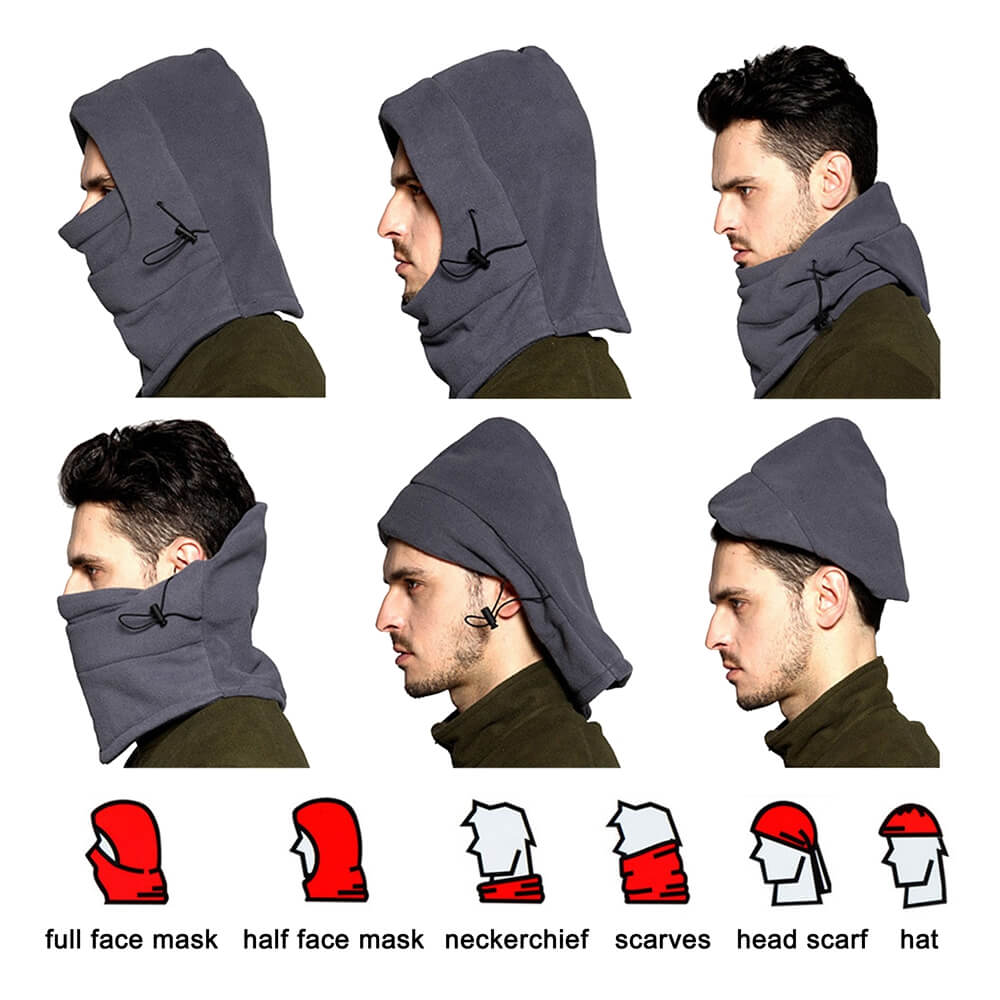 Thermal Training Guard Cover Fleece Balaclava Motorcycle Bike Cycling Winter Ski Sport Full Face Hood Skiing Hats Head Neck Protector - pazoma