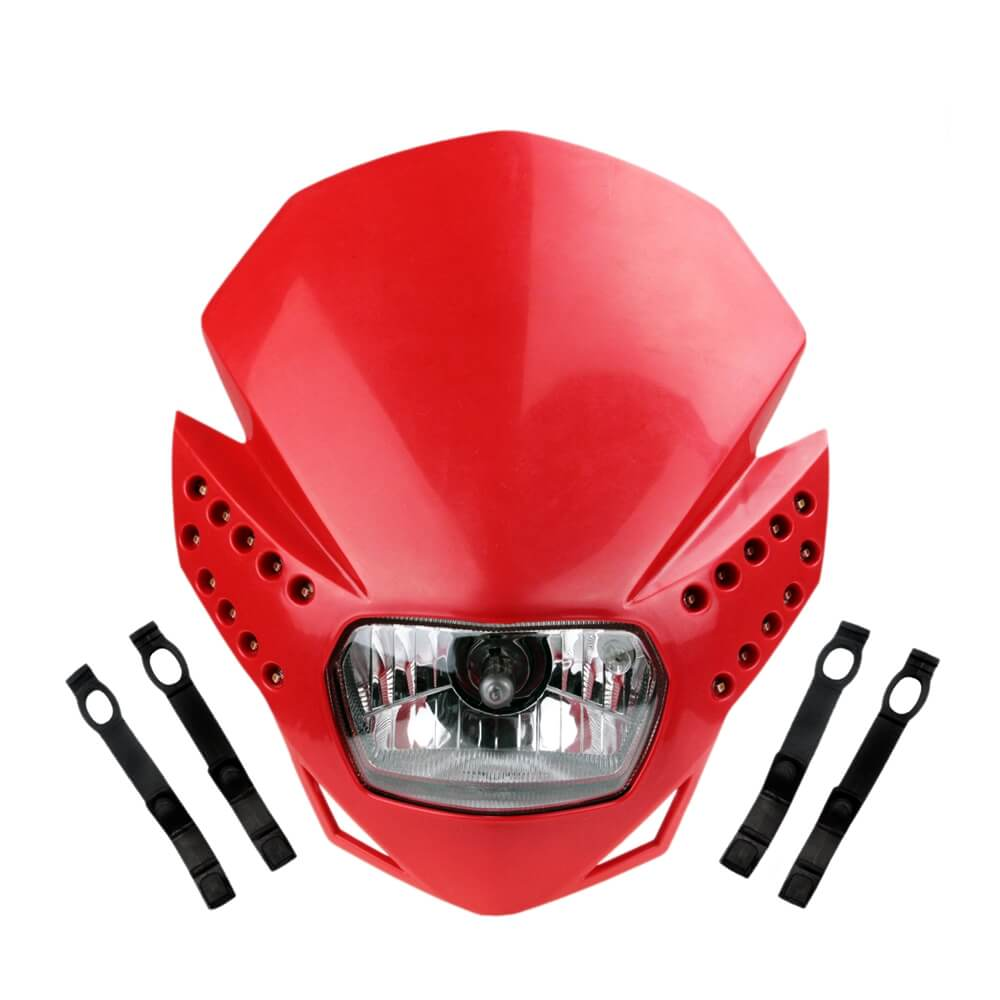 Motorcycle Universal Enduro Cross Dual Sport Off-Road Streetfighter Dirt bike LED Headlight Headlamp - pazoma
