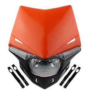 Dirt Bike Enduro Stealth Headlights Supermoto Motocross Universal Head Light Lamp Fairing Kit for Honda CRF WR KTM EXC Suzuki RM KLX 250 450 - pazoma