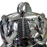 Chrome Skull Skeleton Ornament Decorative Figure Statue Harley Softail Dyna Chopper Bobber Ratrod Fender Headlight Visor headlamp Spotlamp - pazoma
