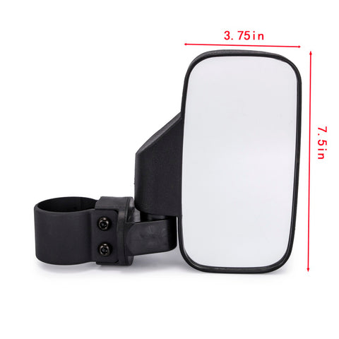 "Offroad UTV Adjustable Rearview Race Mirror Side View 1.75"" - 2"" Clamp Easily Roll Cage Bar Break Away for Polaris Ranger RZR Can-Am Maverick - pazoma"