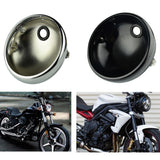 "7"" Motorcycle Lighthouse Motor Scooter Vintage Head Lamp Light Covers Headlight Headlamp Housing Universal 7 Inch For Harley Cafe Racer - pazoma"
