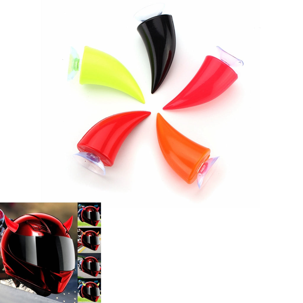 Pazoma Multi-color Devil's Horn Angle Horns Helmet With Sucker Motorcycle Helmet Headwear Accessories Suction Cups Horns Decoration - pazoma