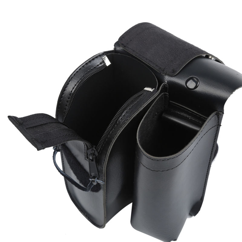 Motorcycle Black Crash Bar Saddlebag Guard Bag With Water Bottle Holder For Harley Touring Road King Electra Glide Road Glide - pazoma