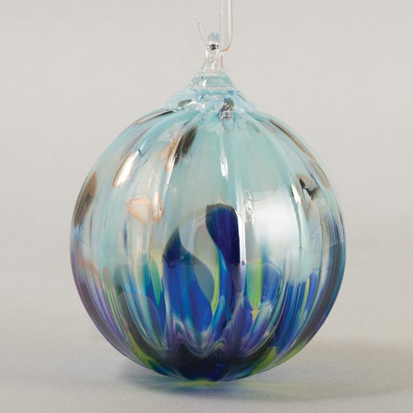 Glass Eye Ornaments Blue/Purple Collection