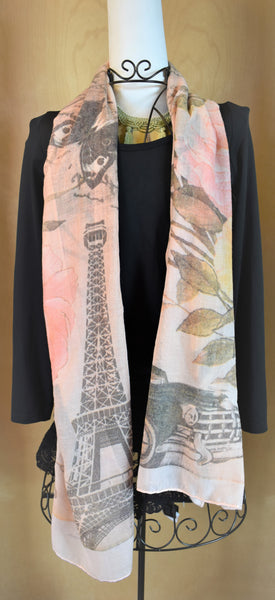 Value patterned scarves spring/summer