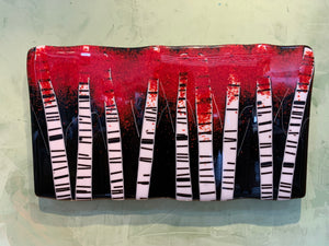Red Fused Birch Trees